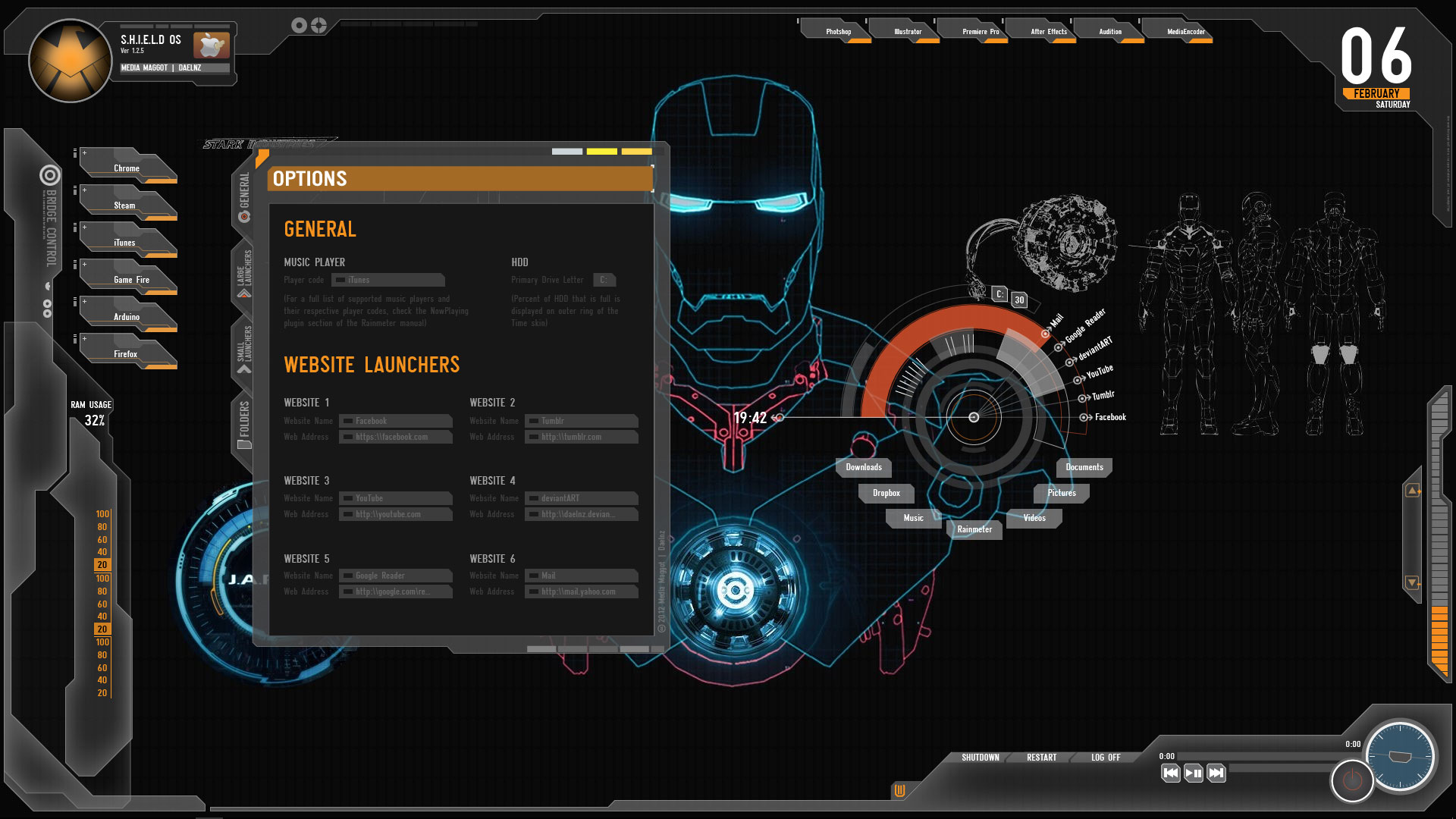 SHIELD Iron Man Theme for Windows 10 | 8 | 7