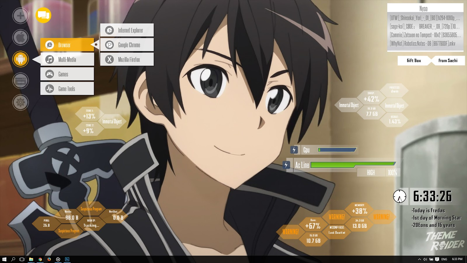 SAO Theme - Windows 10 | 8 | 7