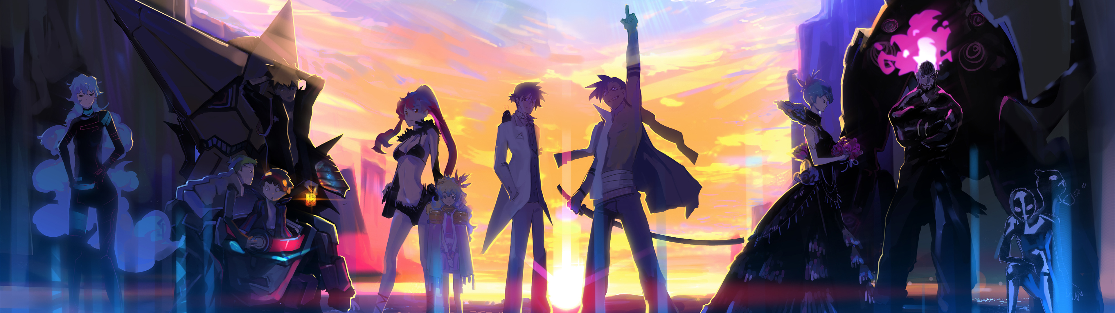 Awesome Dual Monitor Anime Wallpaper