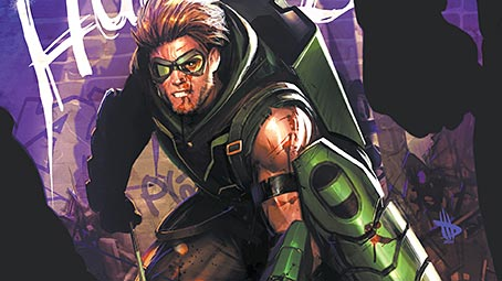 green-arrow-background