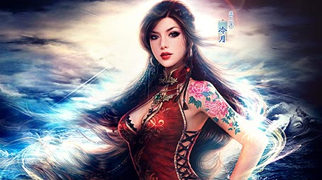 oriental-tattoo-background