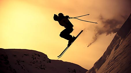 skiing-background