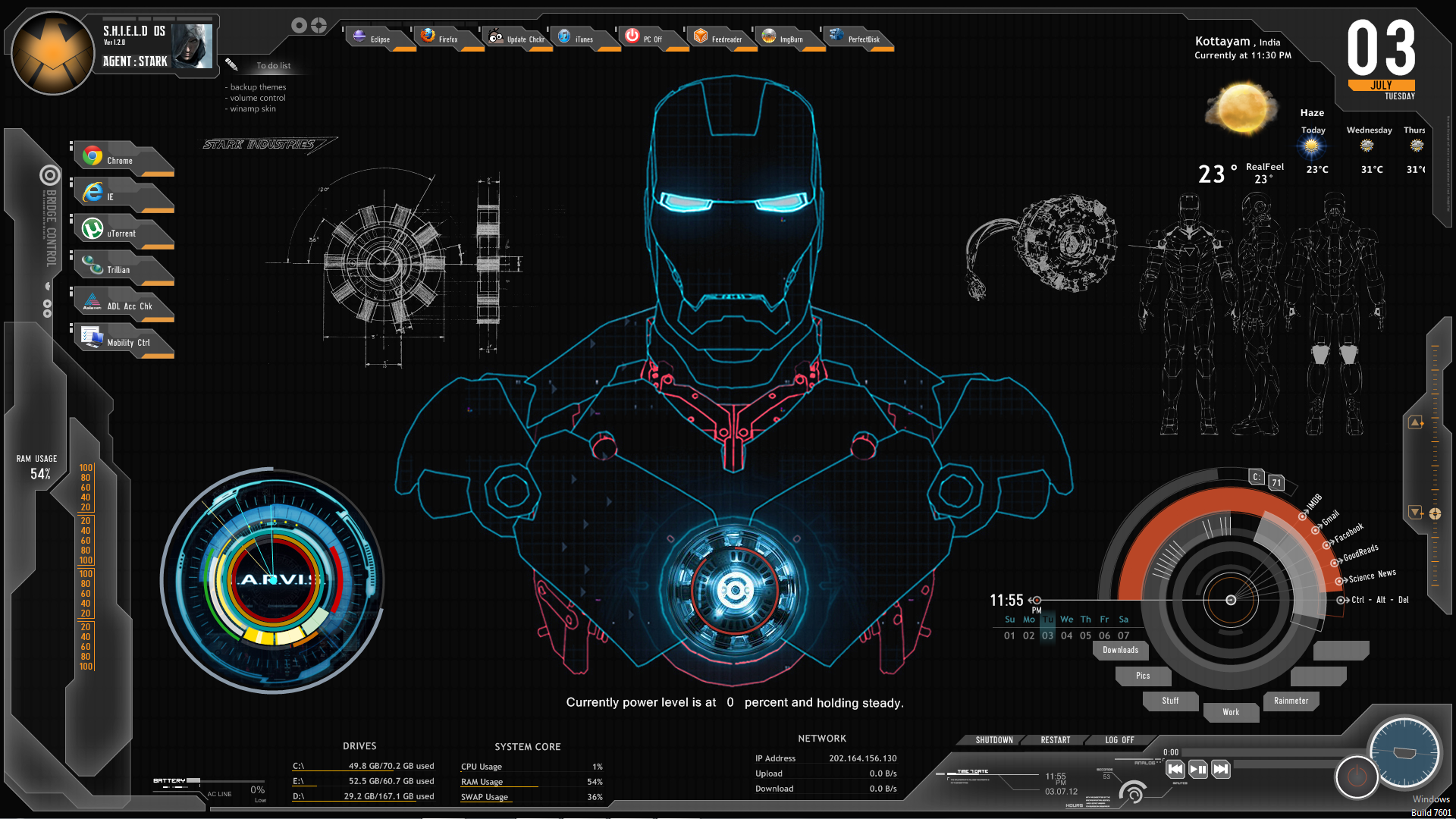 Iron Man Jarvis Theme For Windows 10 Wiring Diagrams 20022004 Ford F250 Curt T Connector Harness 55265 Shield 8 7 Rh Themeraider Com Eylo Window Download