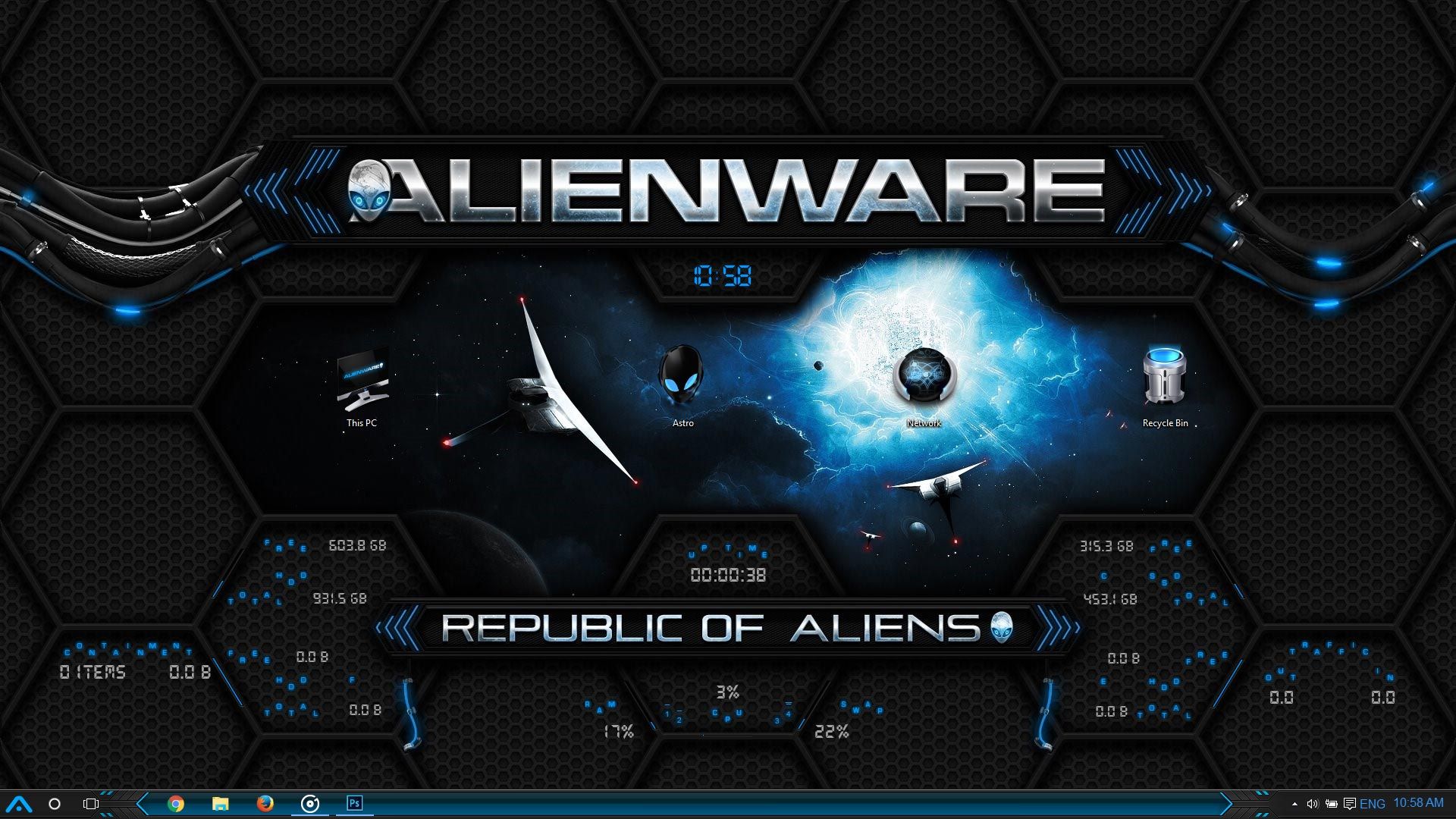 alienware windows 10 theme