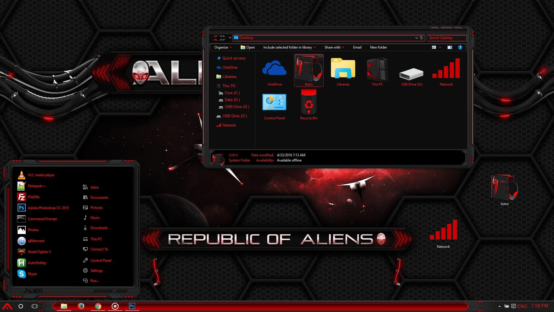 Alienware red windows 10 theme alienware red background 3 voltagebd Choice Image