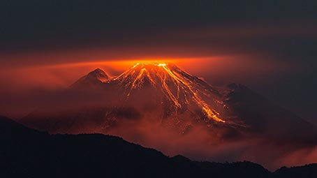 volcano-background
