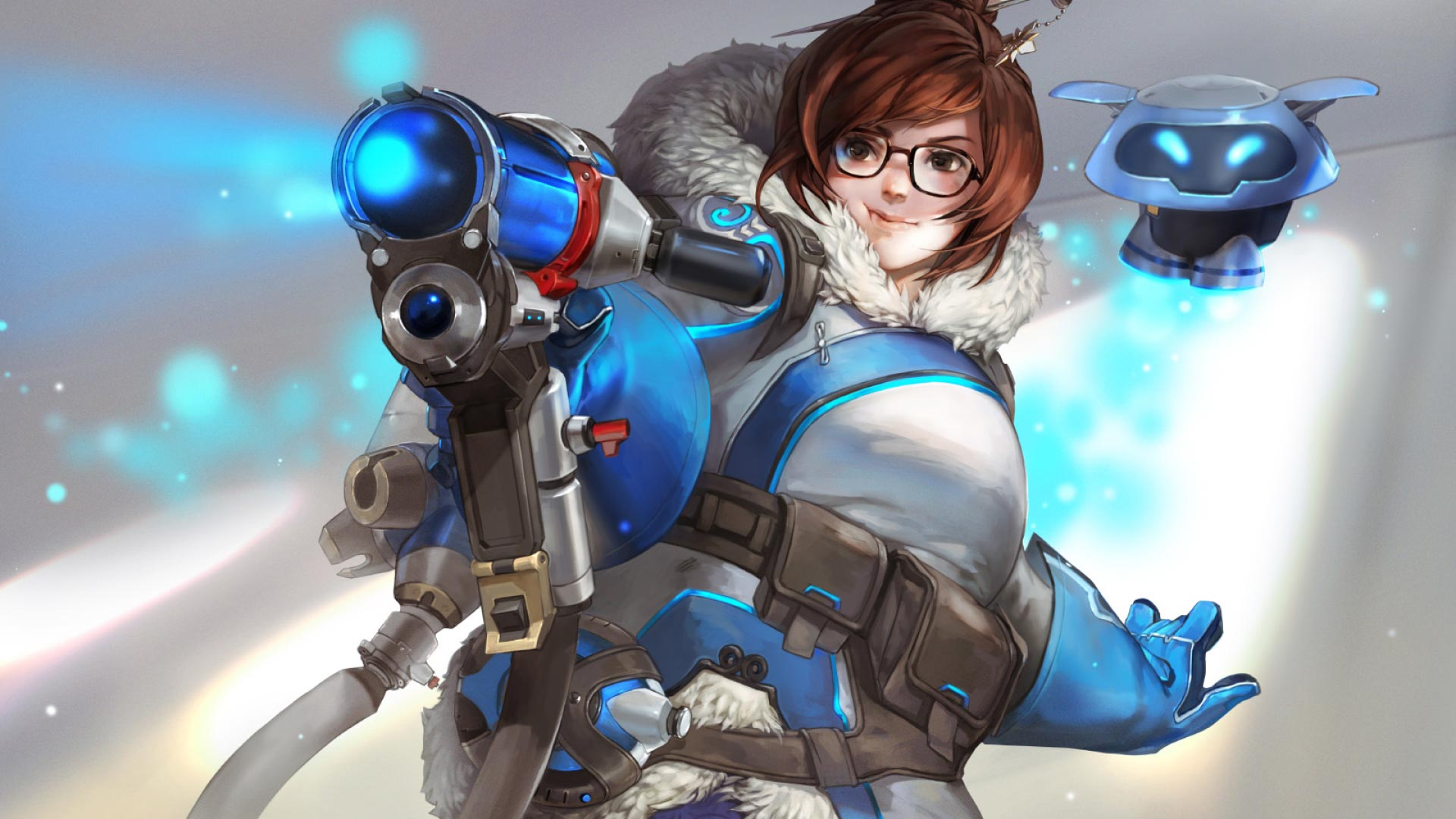 Overwatch mei theme for windows 10 8 7 - In Action Freezing Things With The Endothermic Blaster And Creating Blocks Of Ice In This Adorable Theme For The Hero
