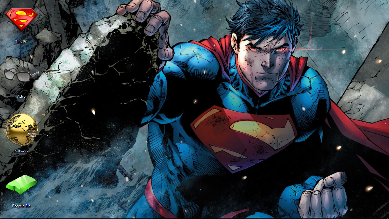 Superman Theme For Windows 10 8 7