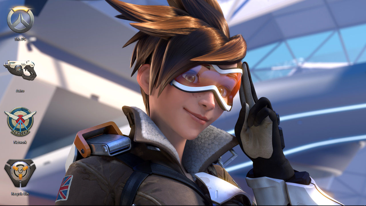 Overwatch mei theme for windows 10 8 7 - Tracer Overwatch