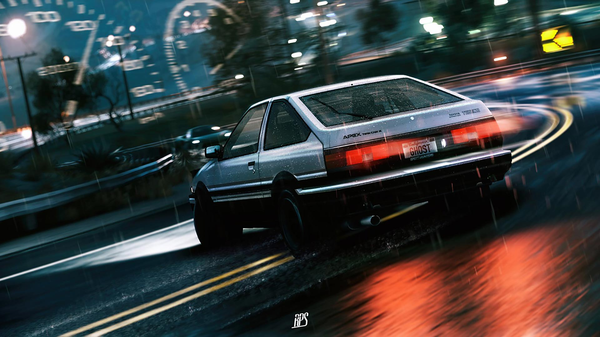 Initial D Theme For Windows 10 8 7